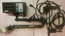 Fagor Digital 2 axis readout NVK-20 w/arm & scales set