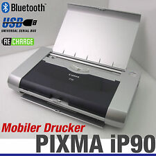 MOBILER DRUCKER CANON PIXMA iP90 WIRELESS BLUETOOTH IRDA AKKU USB WINDOWS XP 7