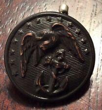 RARE VANTIQUE Copper US Marine Corps BUTTON Waterbury Button Co. Conn.