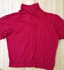 THE LIMITED Short Sleeve Geometric Mockneck Lightweight Top. Size Medium. Used