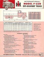 Truck Brochure - International - F-230 - Off-Highway - Red (TB467)