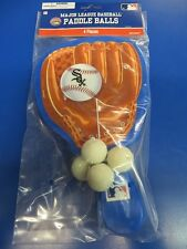Chicago White Sox MLB Baseball Glove Sports Party Favor Toy Paddle Ball Games