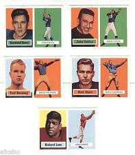 Lot of 5 x 1956 -1957 Topps Archives (1994) FB bulk sets Unitas, Hornung Rookie