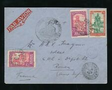 FRENCH SAHARA WW2 1940 AIRMAIL REGIMENT TIRAILLEURS SENEGAL F2 in MAUVE + RP PMK