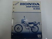1985 Honda XL125S XL 125 S Service Shop Repair Manual STAINED WORN FACTORY OEM