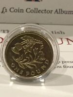 2013 £1 (ONE POUND) COIN. FLORAL EMBLEM , THISTLE SCOTLAND . Uncirculated?