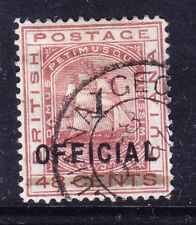 BRITISH GUIANA 1881 SG0154 1c on 48 on official stamp - very fine used. Cat £130