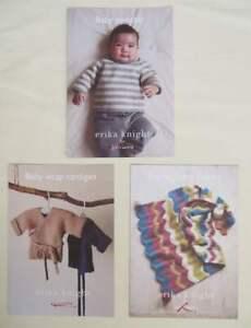 3 x Erika Knight for John Lewis Knitting Patterns for Baby