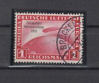 CP7472/ GERMANY REICH – ZEPPELIN - MI # 496 USED – CV 590 $