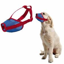 Nylon Dog Muzzle Anti Biting Barking Secure Fit Mesh Breathable Mouth Cover