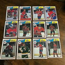 1983-84  O-Pee-Chee  MONTREAL CANADIENS 18 card team set/lot