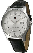 Tommy Hilfiger 1710167 Silver Dial Brown Leather Strap Men's Watch