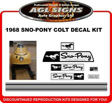 1968  Sno-Pony Colt  Reproduction Decal Kit   stickers  Sno Pony Couparral