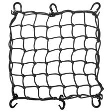 """15""""x15"""" Bungee Cargo Net 6 Adjustable Hook Stretch to 30""""x30"""" Motorcycle Black"""