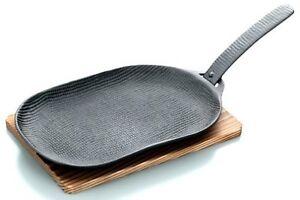 Japanese Nanbu Tetsu Iron YAKINIKU Steak Grill pan cooking plate 9.6in U-29