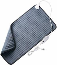 """VIPEX Electric Heating Pad Dry/Moist for Pain Relief w/ 6 Heat Settings 33""""x17''"""