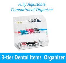 Dental Fully Adjustable Compartment Organizer 3 Level
