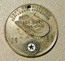 Green Bay Packers 1950 American Legion Convention Medal City Stadium Pre 1960s