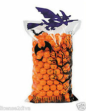 HALLOWEEN WITCH TREAT BAGS DO IT YOURSELF SET OF 6 BAGS GLITTER SCHOOL FUN NEW