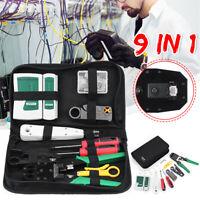 RJ45 RJ11 RJ45 LAN Network Hand Tool Cable Tester Crimp Crimper Plier Kit Cat5