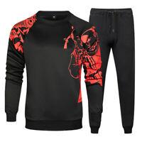 Mens Tracksuit 2 Piece Casual Pants Sweater Sweatsuit Hip Hop Sweatshirt Set