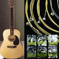 6pcs Cordes De Guitare En Acier Pour Guitare Acoustique 150xl 108cm Grand Ton