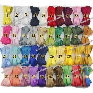 50color pick 10yards Satin lip cotton fabric Cord Edge Piping Rope Sewing trim