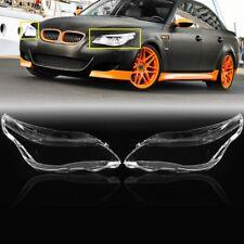 For BMW E60 5 Series 525i 530i M5 2003-2010 2004 2005 Headlight Lens Cover Clear