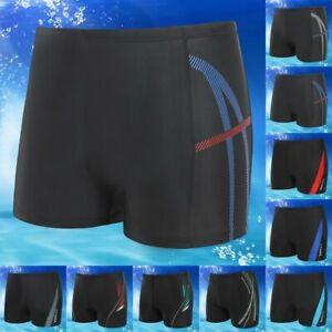 Mens Sexy Boxer Briefs Swim Shorts Trunks Swimwear Beach Fitness Pants Underwear