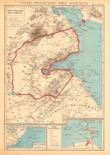 FRENCH SOMALILAND. Cote Française des Somalis. Obok & DJIBOUTI plans 1938 map