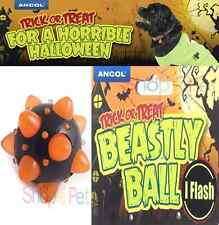 ANCOL HALLOWEEN SPECIAL FLASHING DOG BALL, DOG TOY, Flashes on impact