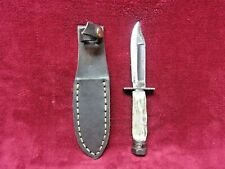 Vintage Ontario 1-86, Pilot Survival Knife, Modified For Hunting, W/Stag Handle