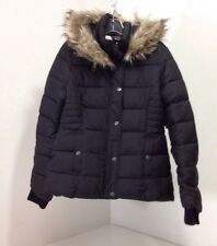 ABERCROMBIE & FITCH WOMEN'S HOODED PUFFER JACKET BLACK MEDIUM NWT