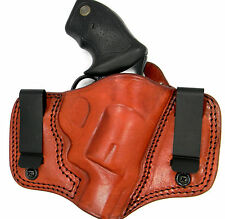 TAGUA BROWN LEATHER DUAL CLIP IWB CONCEALMENT HOLSTER - S&W J-FRAME .38 SPECIAL