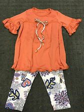 6- 2Pc Lot Girls Nwt Top & Legging Sets By Heartache Sz 5, 6, 7 and 8