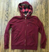 Burberry Brit Mens Full Zip Long Sleeve Nova Check Hood Sweater Size Large
