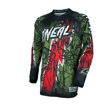 Oneal MX Trikot 2017 Element Vandal Grun-rot XL