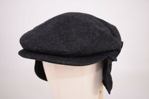 Wigens NWT 100% Wool Newsboy in Solid Charcoal Size 59, 7 & 3/8ths