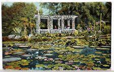 Postkarte 1920 - LIEGNITZ - Heizbarer Teich mit Pergola  Schlesische Gartenstadt