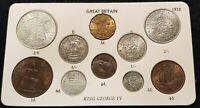 1937-1952 CHOICE OF YEAR COIN GIFT SETS FARTHING TO HALFCROWN  IDEAL BIRTHDAY