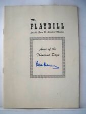 ANNE OF THE THOUSAND DAYS Playbill REX HARRISON Autographed NYC 1949