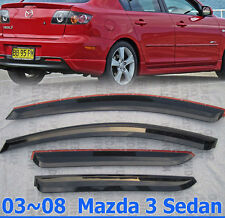 For MAZDA 3 SEDAN 03-09 Window Visor Shade Wind Deflector Guard Weather Shield