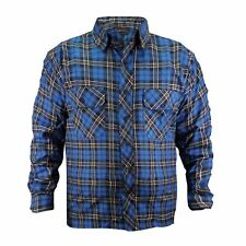 Mens Premium Quailty Flannel Lumberjack Brushed Fleece Check Cotton Work Shirt Royal M
