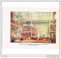 OPENING OF THE GREAT EXHIBITION IN 1851, BOOK ILLUSTRATION (PRINT), 1940s