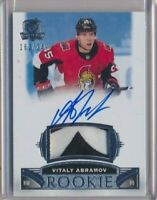 2019-20 The Cup RPA Rookie Patch AUTO 67 Vitaly Abramov /249 Ottawa Senators