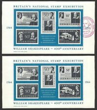 GB 1964 Shakespeare Essays Souvenir sheet used & mint (2)
