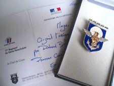 En ARGENT 17e RGP Insigne Régiment Génie Parachutiste commando R.G.P. coloniale