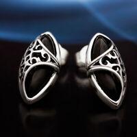 Onyx Silber 925 Ohrringe Damen Schmuck Sterlingsilber S507