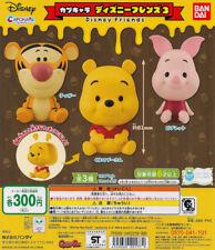 Bandai Capchara Disney Friends Part 3 Gashapon Pooh Tigger Piglet Set of 3pcs