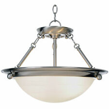 Monument Lighting 560795 Lunar Bay Collection 2-Light Pendant in Brushed Nickel